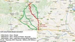 Care sunt rutele ocolitoare recomandate de polițiști, pentru șoferii care vin în București