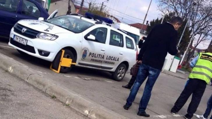 Cum şi-a găsit Poliţia Locală maşina, după ce a fost lăsată în parcare la Timişoara