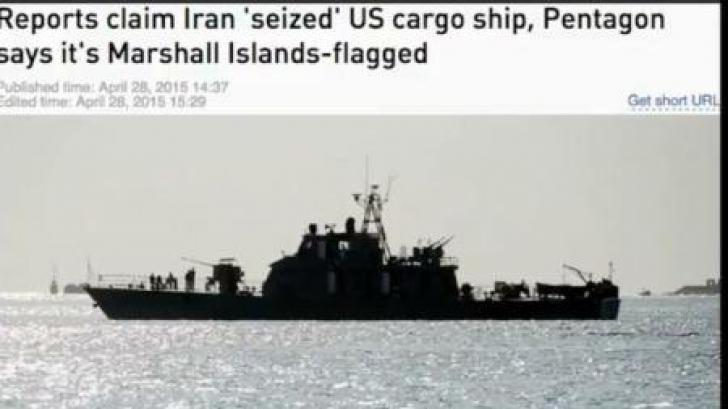 Navă cargo, capturată de Iran. Cei 24 de membri ai echipajului, asiatici şi est-europeni