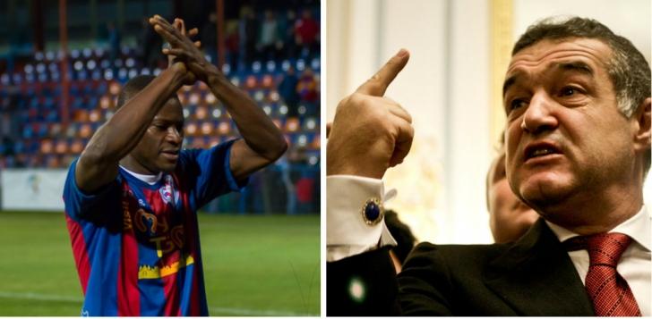 Steaua - ASA Tg. Mureş 0-1. Gest ciudat al lui N'Doye, ce îl priveşte pe Gigi Becali