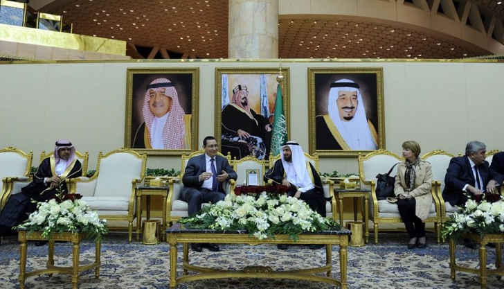 Victor Ponta, în turneu. Premierul s-a întâlnit cu regele Arabiei Saudite / Foto: Facebook.com