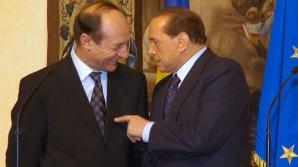 Traian Băsescu și Silvio Berlusconi, în 2005, la întâlnirea relatată de Adriana Săftoiu