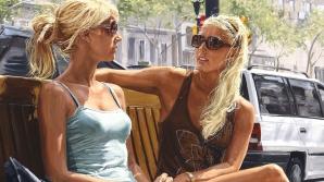 Bancul zilei. Două blonde: Auzi fato, care crezi tu că e mai departe, Luna sau Londra?