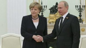 Cancelarul german Angela Merkel, la Moscova