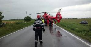 Accident cumplit pe şoseaua Timişoara–Cenad: patru răniţi, între care doi copii / Foto: opiniatimisoarei.ro