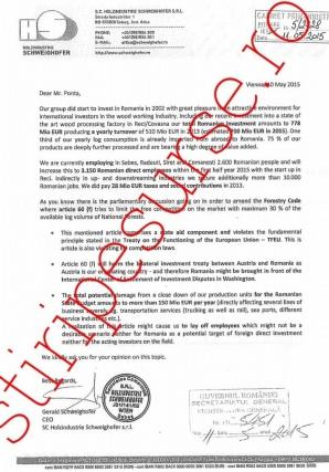 Scrisoarea trimisa lui Victor Ponta: