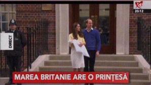 <p>Ducesa Kate a născut. Noua prinţesă, prezentată publicului. Prima imagine cu fetiţa / Foto: Captură video</p>