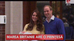 Ducesa Kate a născut. Noua prinţesă, prezentată publicului. Prima imagine cu fetiţa / Foto: Captură video