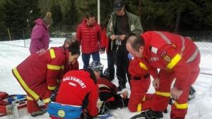 Turistă rănită grav, după ce a alunecat pe zăpadă și s-a lovit de stânci, în munții Făgăraș