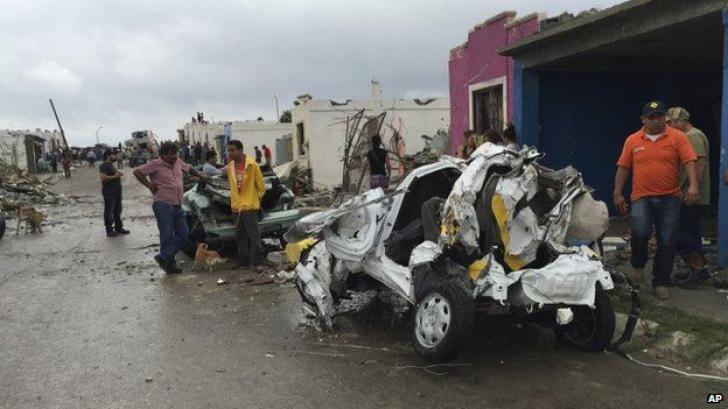 Tornadă ucigaşă în Mexic: Cel puţin 13 oameni au murit