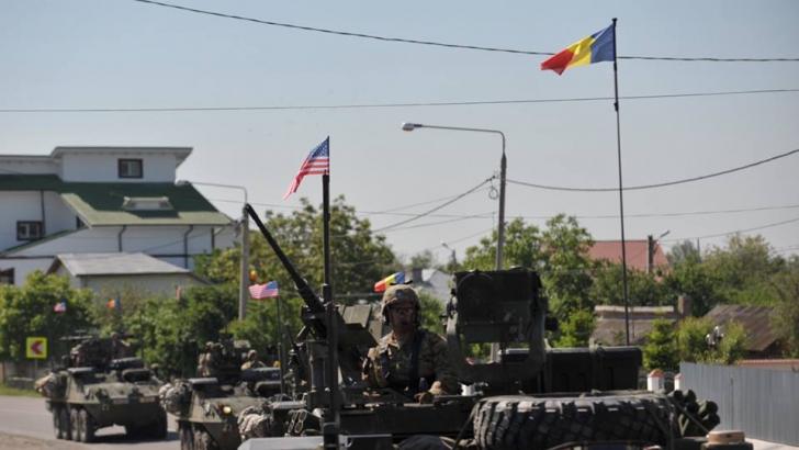 Americanii au plecat cu tancurile, pe stradă, de la Constanța la Brașov