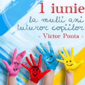 1 Iunie. Mesajul premierului Victor Ponta pentru toţi copiii. Fotografia de mii de LIKE-uri / Foto: Facebook.com