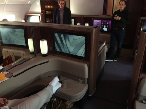 La bordul Qatar Airways