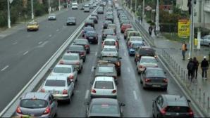 Aglomeraţie mare pe DN1, la intrare în Bucureşti