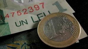 Euro s-a depreciat foarte ușor în raport cu leul