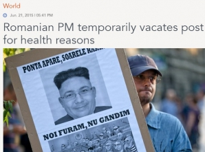 Presa internațională despre Ponta