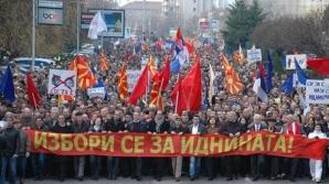 Proteste în Macedonia: Mii de persoane cer demisia primului ministru