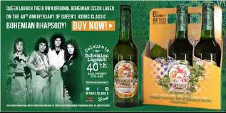 """Queen şi-a lansat propriul brand de bere ,,Queen Bohemian Lager"""""""