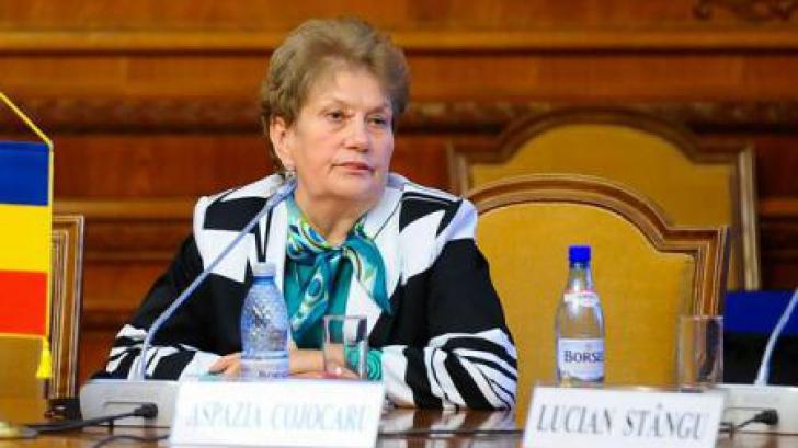 """Fosta judecătoare CCR Aspazia Cojocaru, audiată în dosarul """"Erata"""""""