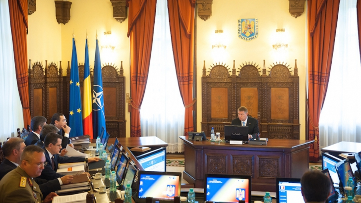 Sedința CSAT. Iohannis a dat mâna cu Ponta. Care este ordinea de zi