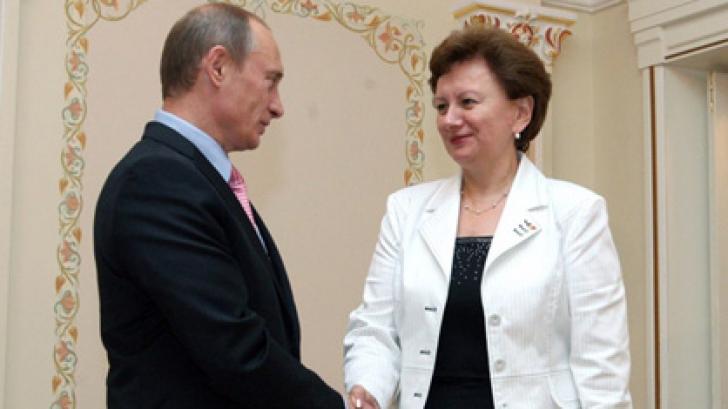 Vladimir Putin și Zinaida Greceanîi