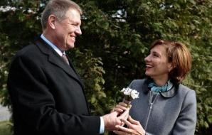 Klaus Iohannis şi soţia sa, Carmen Iohannis.
