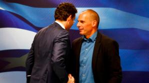 Jeroen Dijsselbloem și Yanis Varoufakis