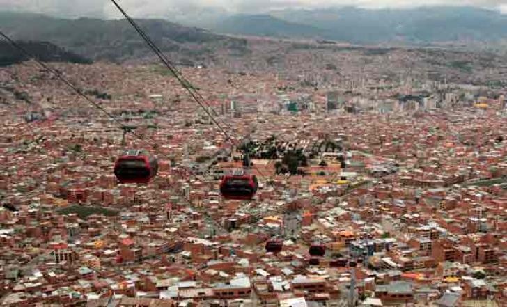 <p>Capitala La Paz, de la trafic sufocat la trafic aerian</p>