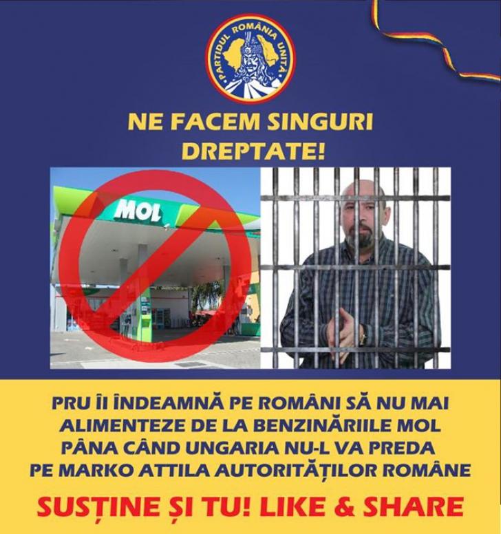 Boicotul benzinăriilor maghiare din România ajunge în presa maghiară / Foto: Facebook.com