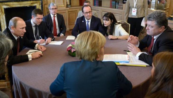 Merkel, Hollande, Putin și Poroșenko anunță o nouă decizie în cazul conflictului din estul Ucrainei