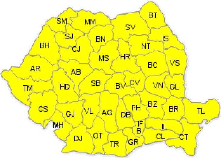 Cod galben de caniculă. România, sub un nou val de căldură