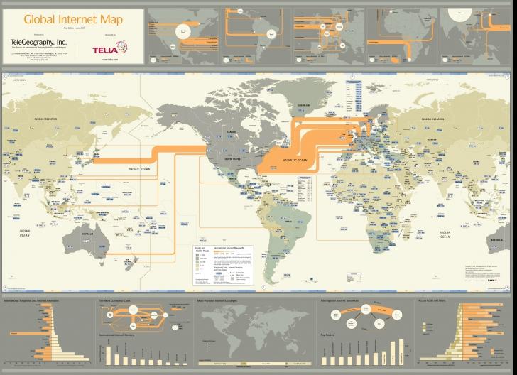 Cum arată de fapt Internetul: Harta reţelei ce leagă cele mai îndepărtate colţuri ale lumii(FOTO)