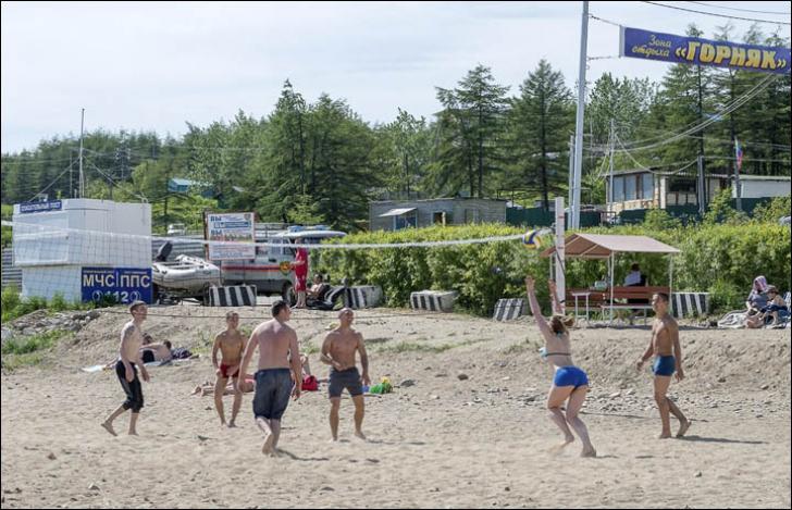 Plajă la Magadan