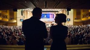 Klaus Iohannis şi soţia sa, la Festivalul George Enescu