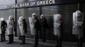 Vânzările de acțiuni la bănci nu au putut fi oprite nici cu poliția
