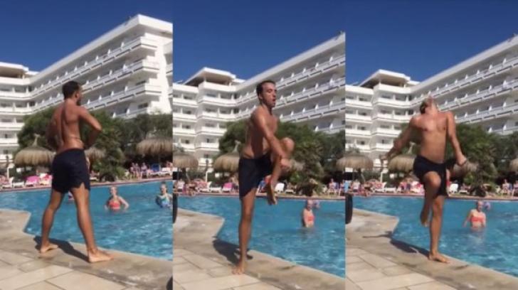 Cum a încântat turistele un instructor de aerobic de la mare. Face spectacol - VIDEO
