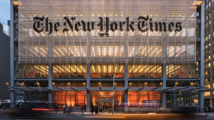 Performanţă pentru ziarul New York Times: ediţia sa digitală a depăşit un milion de abonaţi