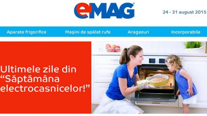 eMAG: ultimele 2 zile de mari reduceri la electrocasnice. TOP oferte