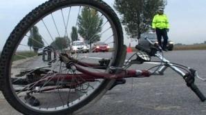Biciclist de 85 de ani, accidentat de remorca unei maşini. Bărbatul a murit pe loc