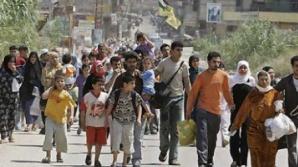TIR plin cu refugiaţi, la Vama Giurgiu. Printre ei se află şi şăpte copii