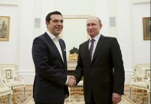 Alexis Tsipras și Vladimir Putin