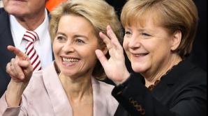 Ursula von der Leyen și Angela Merkel