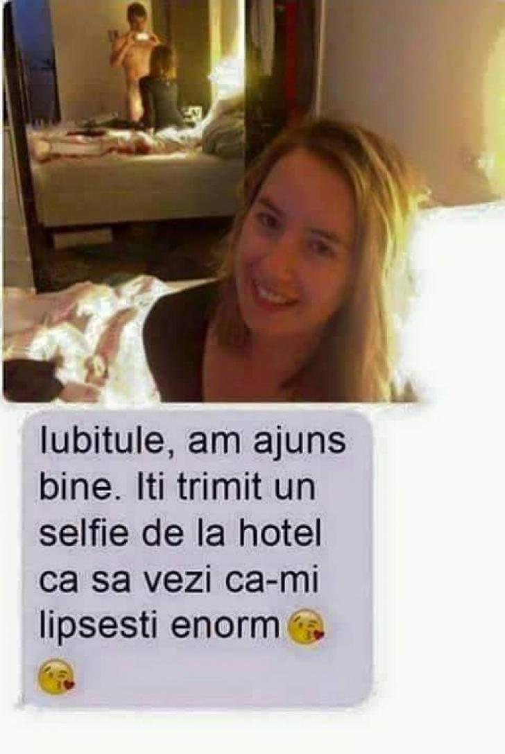 A ajuns la hotel cu amantul şi s-a gândit să îi trimită o poză soţului. Ce a urmat