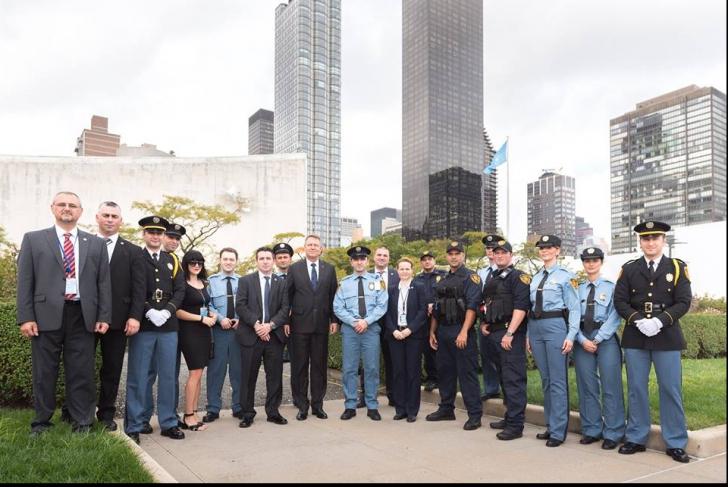 Klaus Iohannis s-a întâlnit cu românii de la serviciul de securitate al ONU
