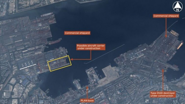 Arma redutabilă construită de China, surprinsă în imagini de sateliții SUA