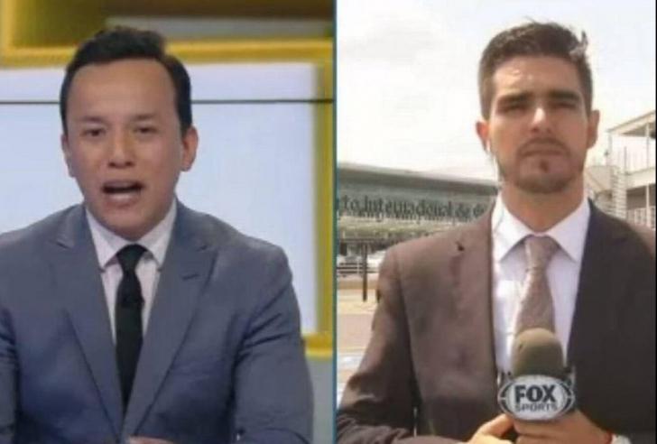 Iată momentul în care un reporter sportiv e lovit de o mașină în timpul unei transmisiuni în direct!