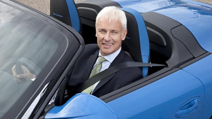Şeful Porsche, Matthias Muller, a fost ales director general al grupului auto Volkswagen