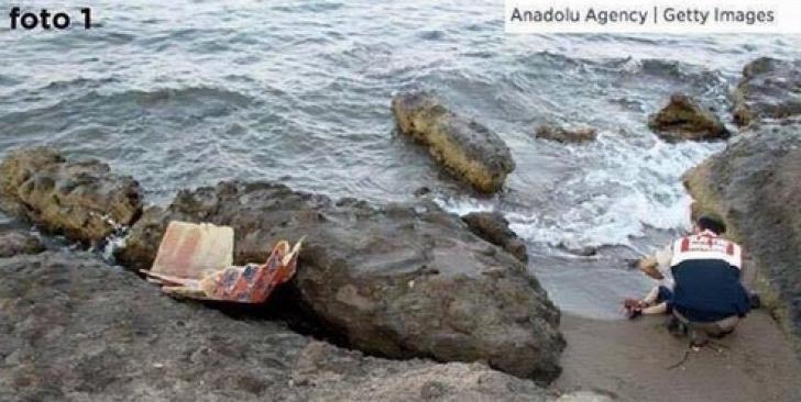 Controversă pe tema pozei cu copilul sirian înecat: A fost mutat cadavrul pentru un cadru mai bun? / Foto: captura