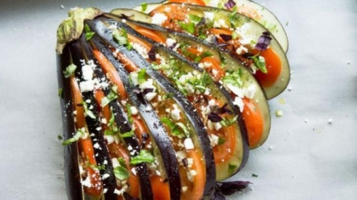 Vinete evantai în stil mediteranean, o reţetă excelentă şi spectaculoasă!