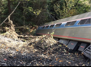 Trenul Amtrak deraiat în SUA
